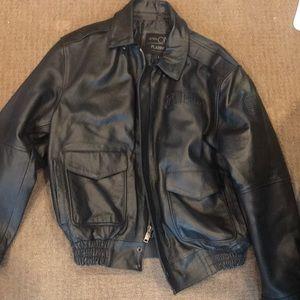 Ultra One Platinum Leather Jacket